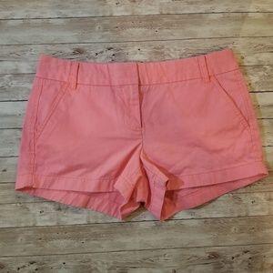 J. Crew Chino Shorts in Melon size 6 in EUC
